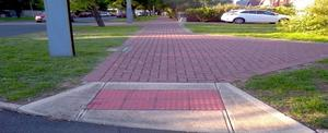 Compressed footpath