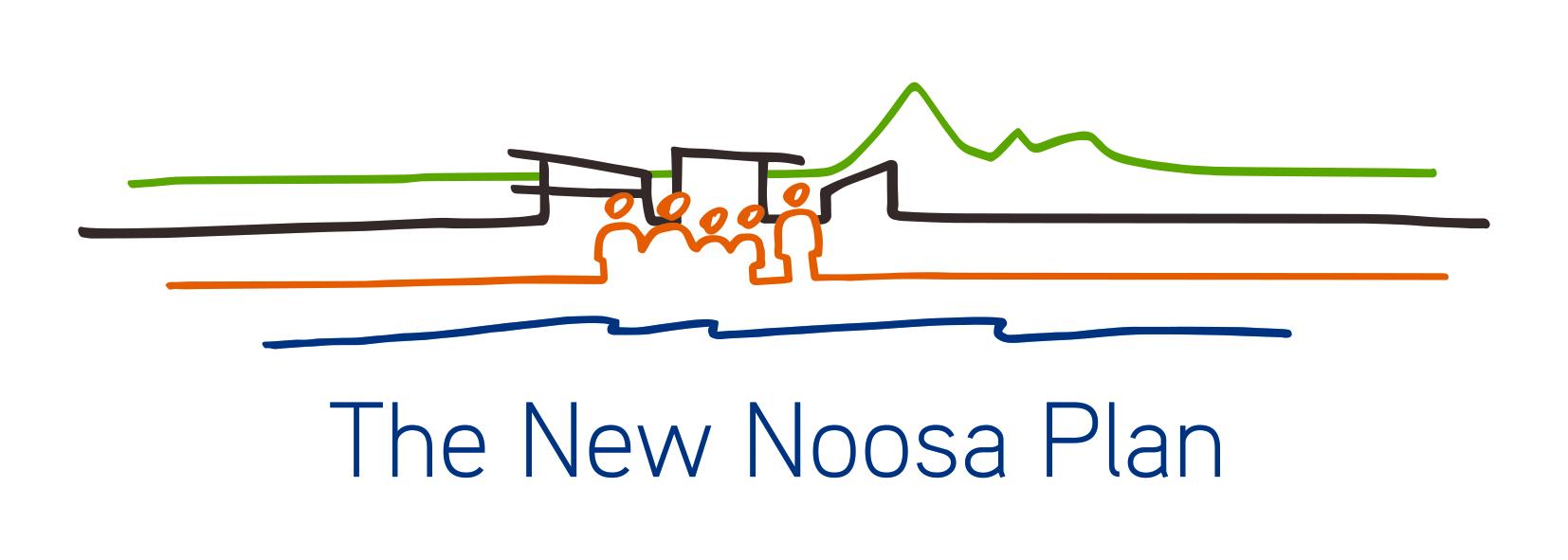 Noosa plan logo line drawing
