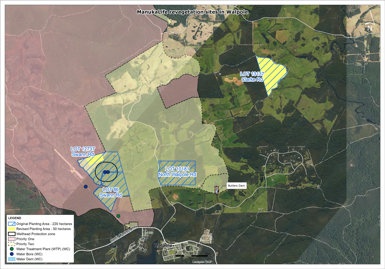 Walpole manukalife map