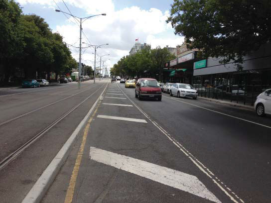 Photo of central median area for upgrade on fitzroy st