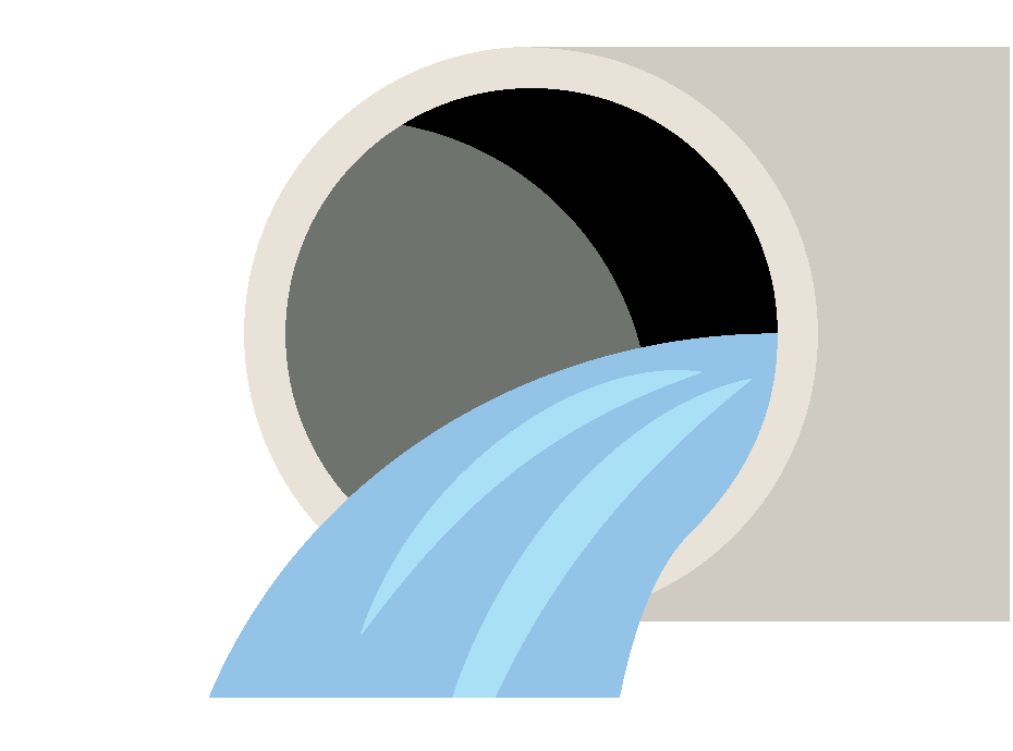Illustration of a water pipe.