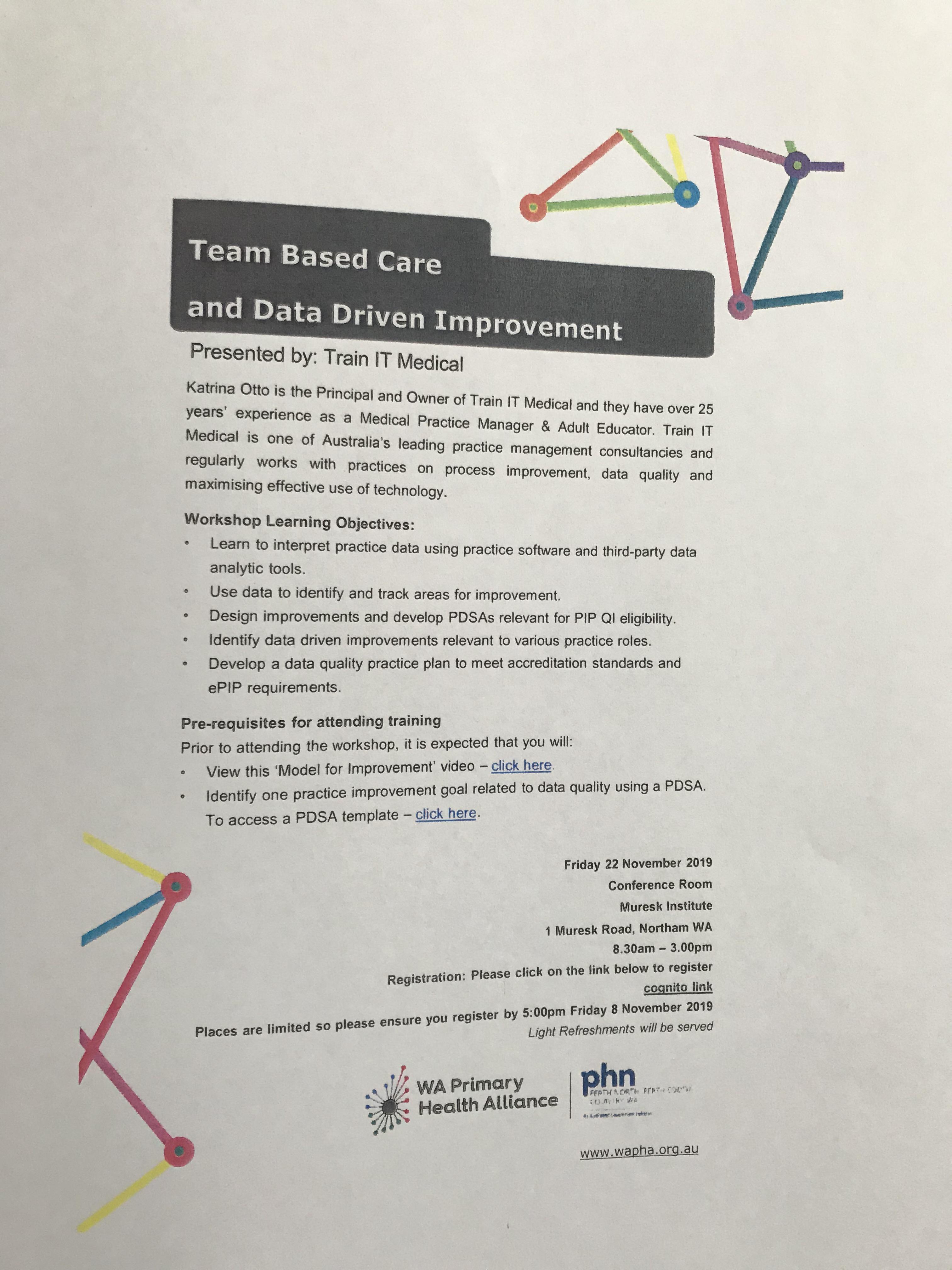 Katrina otto training team based care