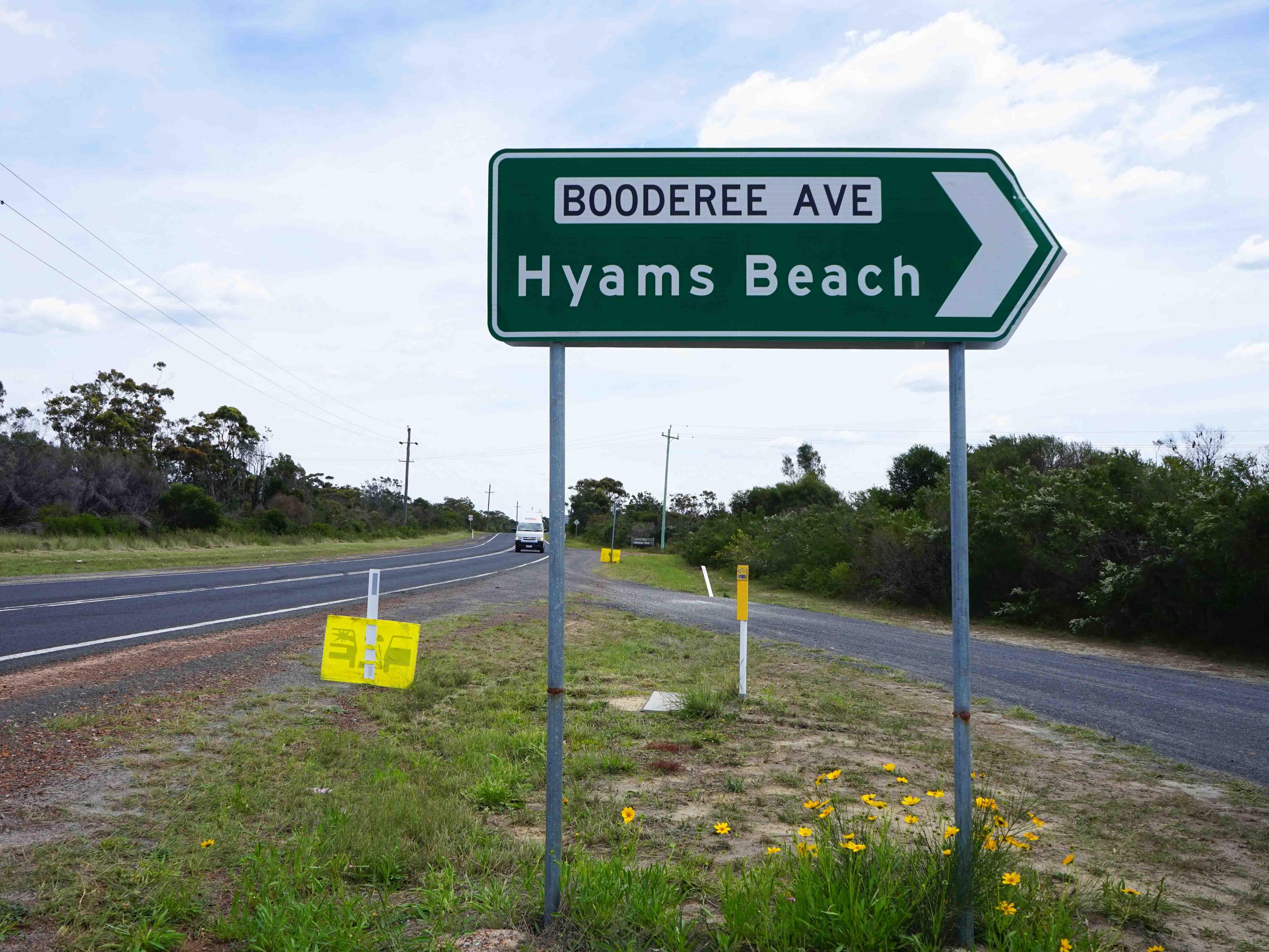Hyams road sign