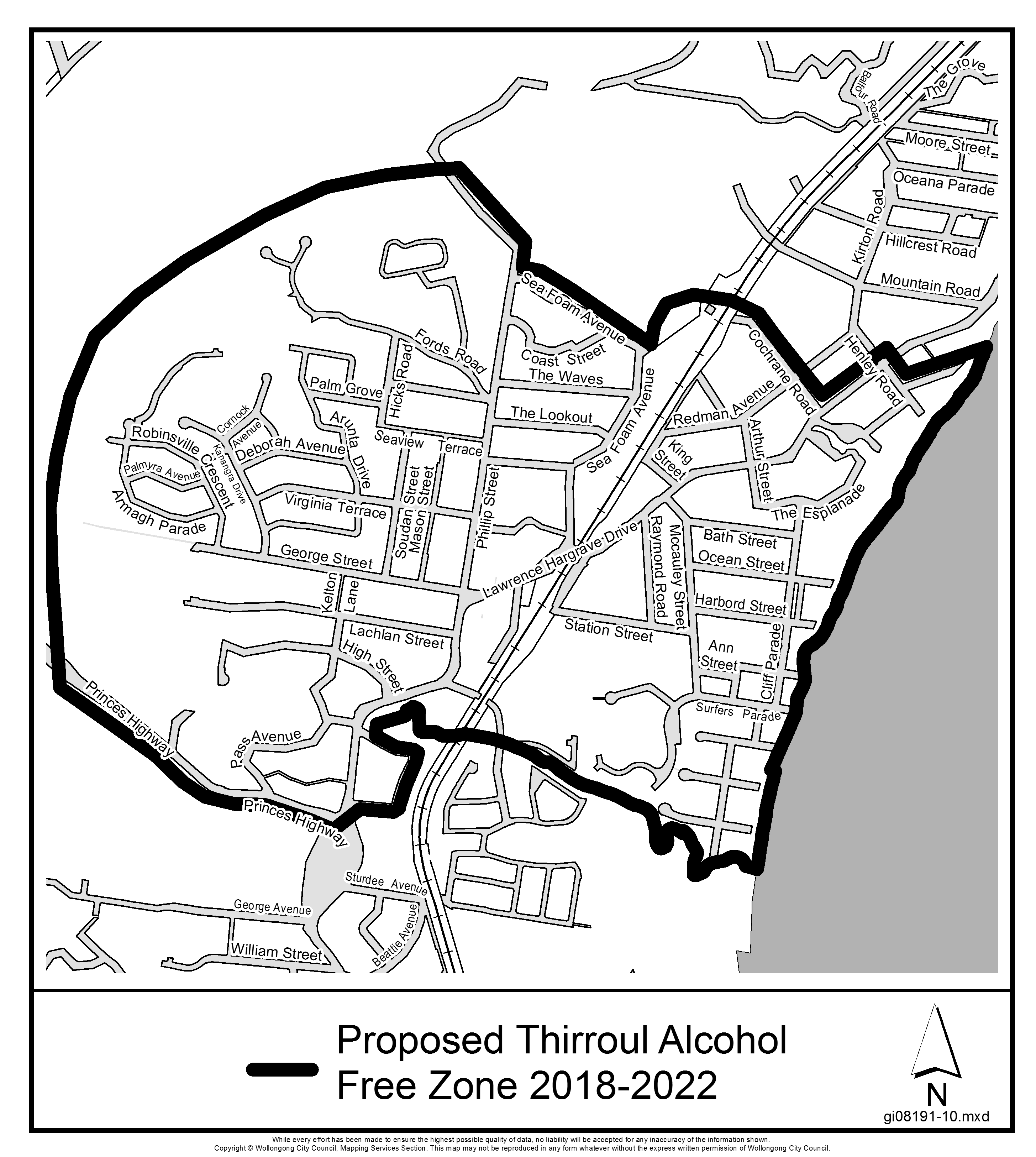 Proposed thirroul alcohol free zone 2018 2022