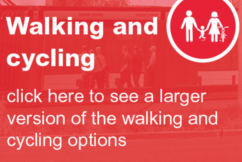 Click here to see a larger version of the walking and cycling infographic