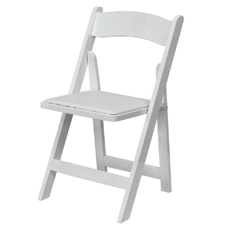 white wedding chair