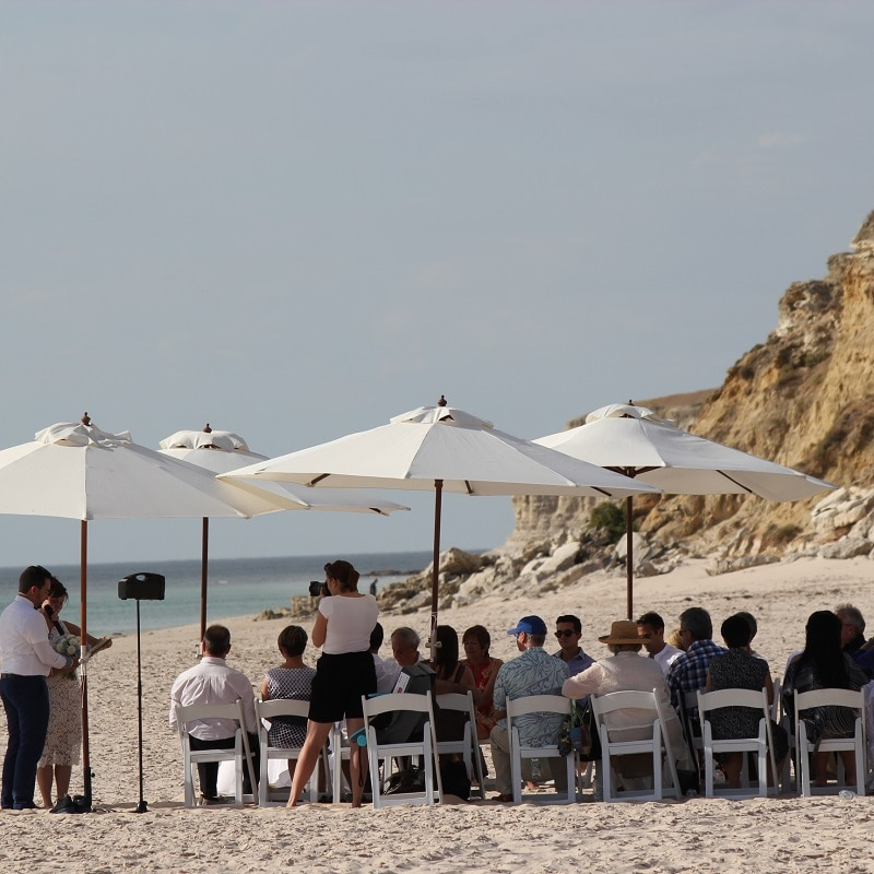 Wedding Hire Adelaide wedding beach chairs