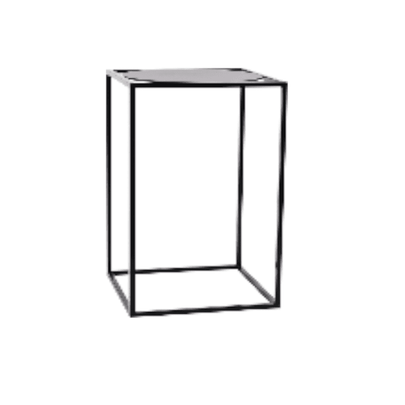 New furniture hire- NGV Prisum bar tables. Black frame. White frame. Various coloured tops