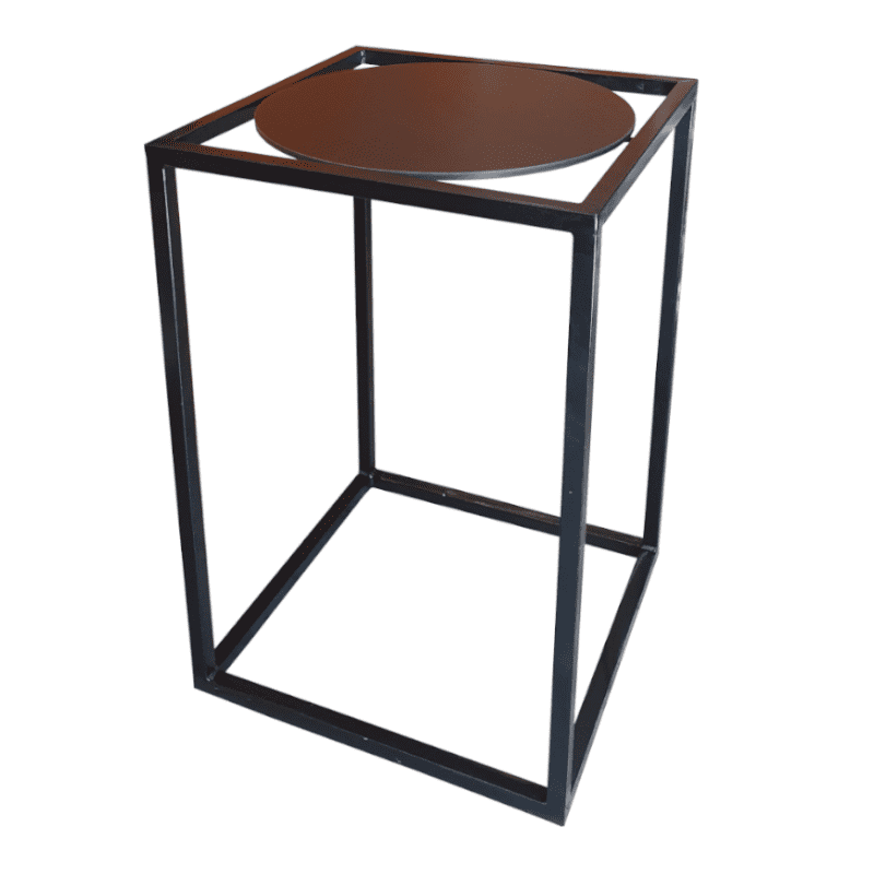 black and black bar table