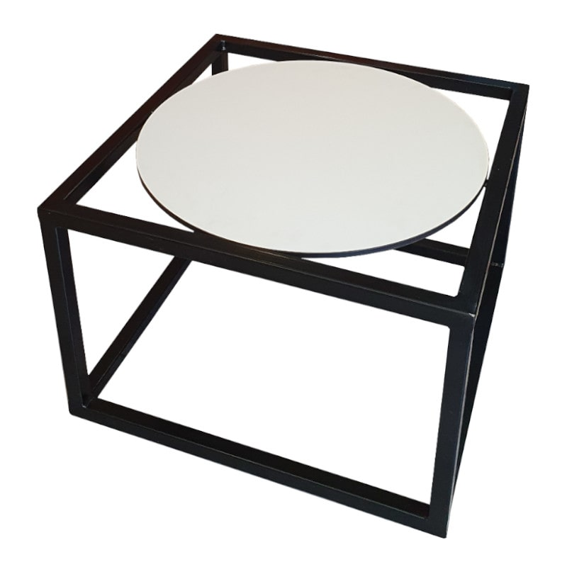 black and white lounge table