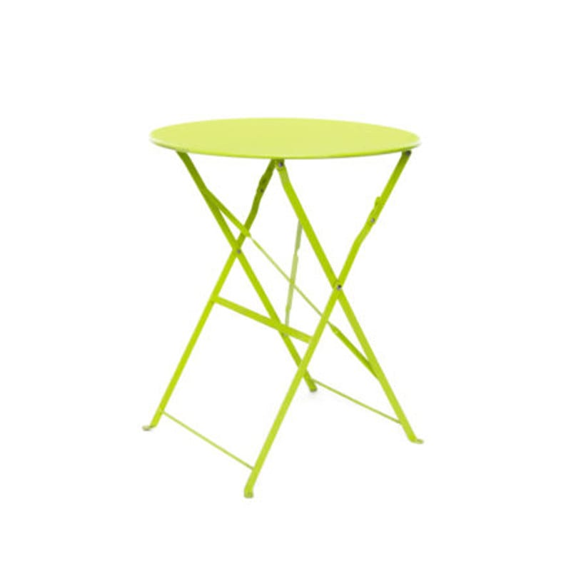 Botanical cafe table, green