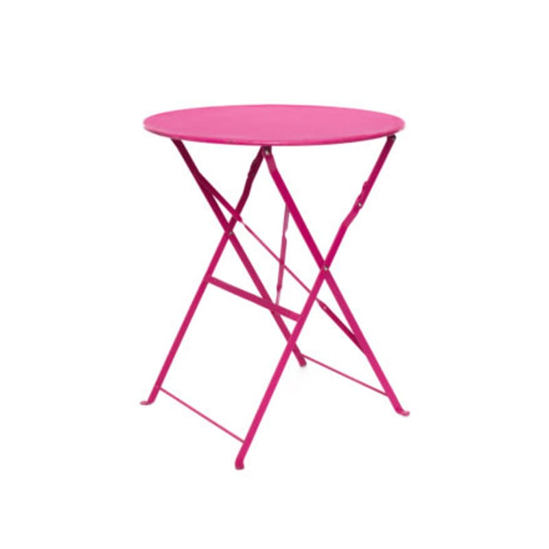 pink cafe table