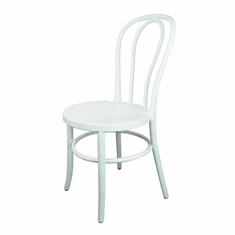 white wooden wedding chair