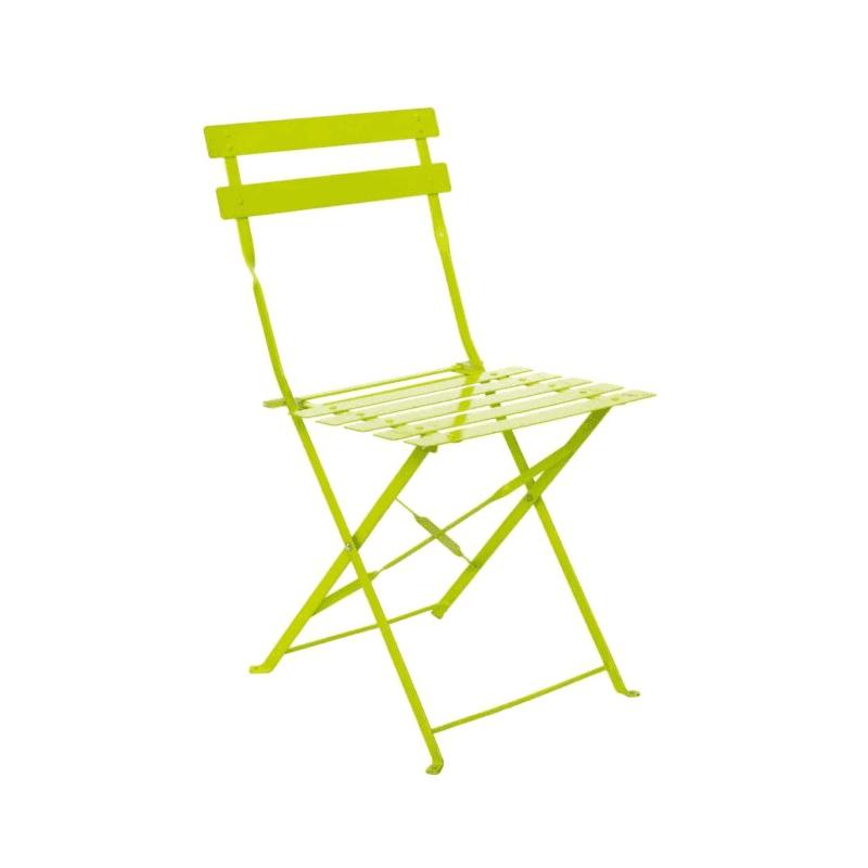 lime botanical chair
