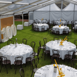 Furniture Hire Adelaide round tables linen