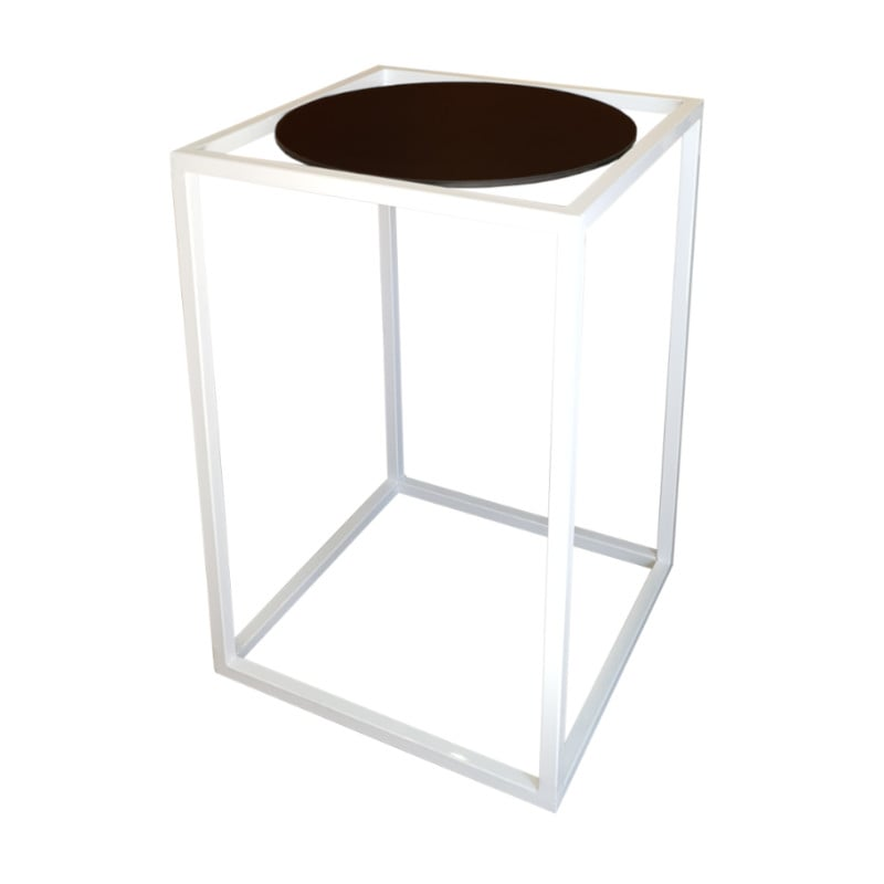 white and black bar table