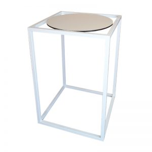 white and white bar table