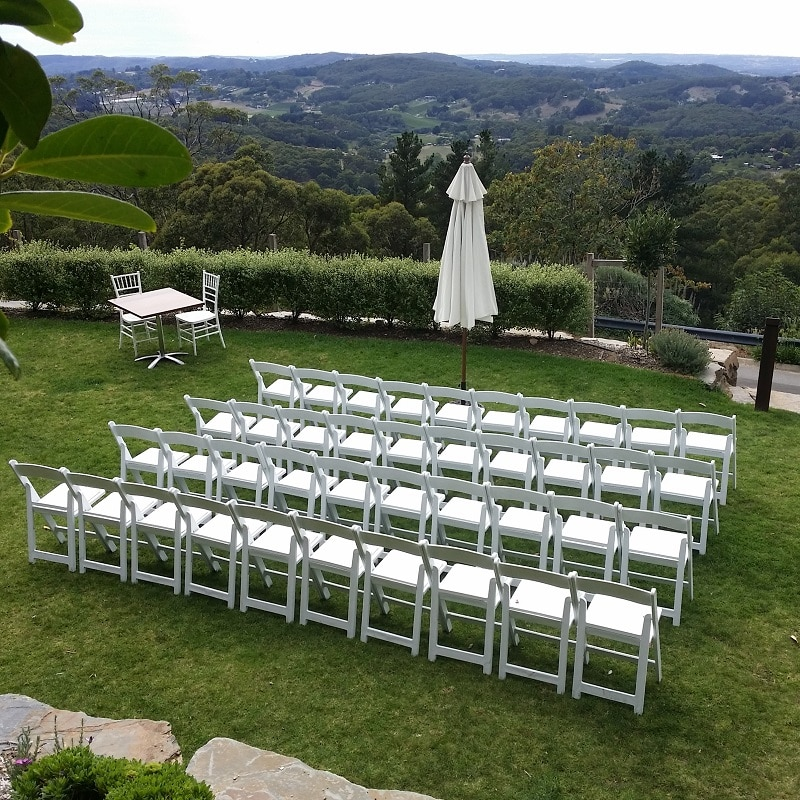 ceremony at Mount lofty house