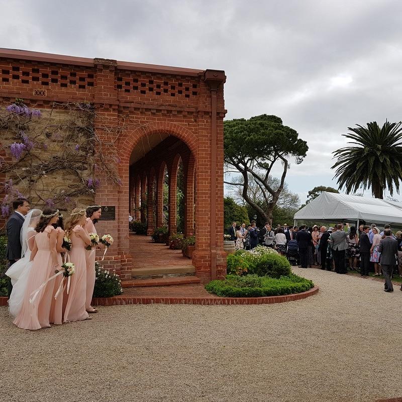 Wedding Hire Adelaide bride ceremony