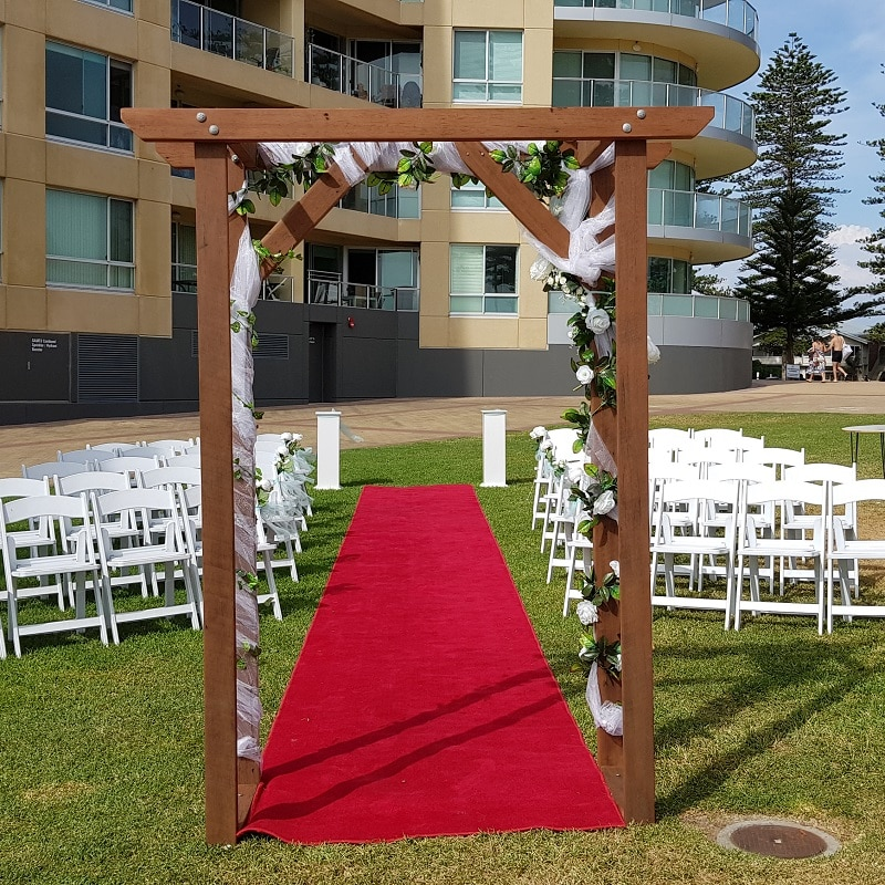 ceremony near beach