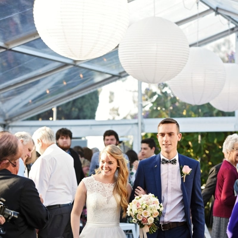 Wedding Hire Adelaide Beaumont House clear roof pavilion lantern lighting