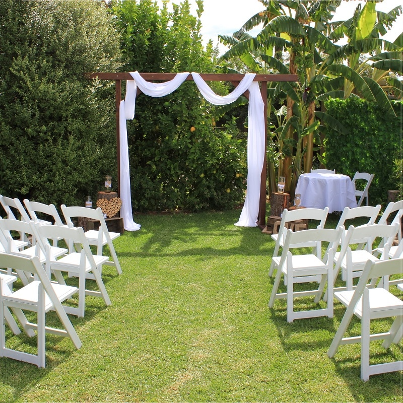 Wedding Hire Adelaide wedding ceremony arbor signing table