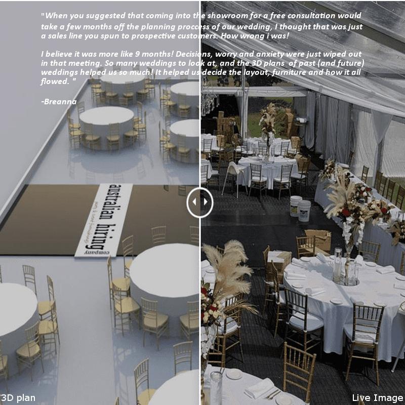 Wedding Hire Adelaide 3D event slider
