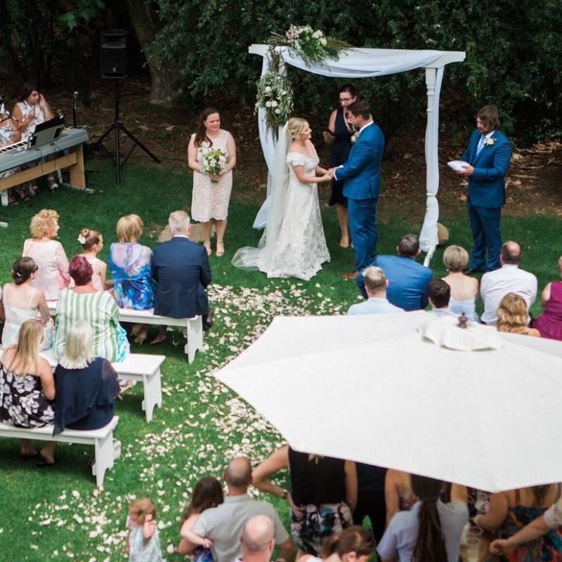 Wedding Hire Adelaide wedding bench seating