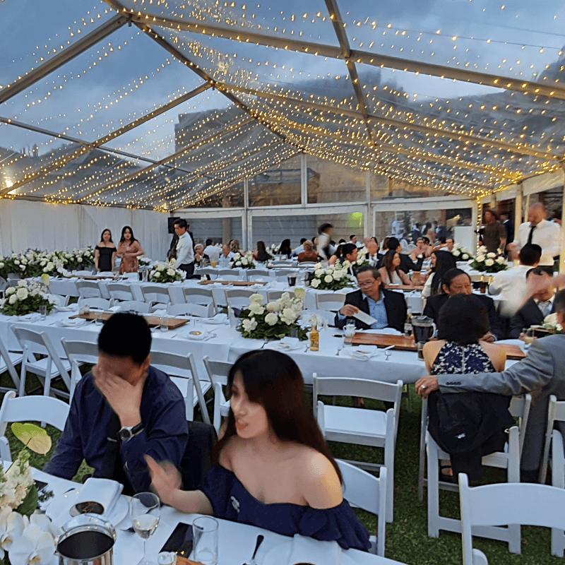 wedding white americana chairs