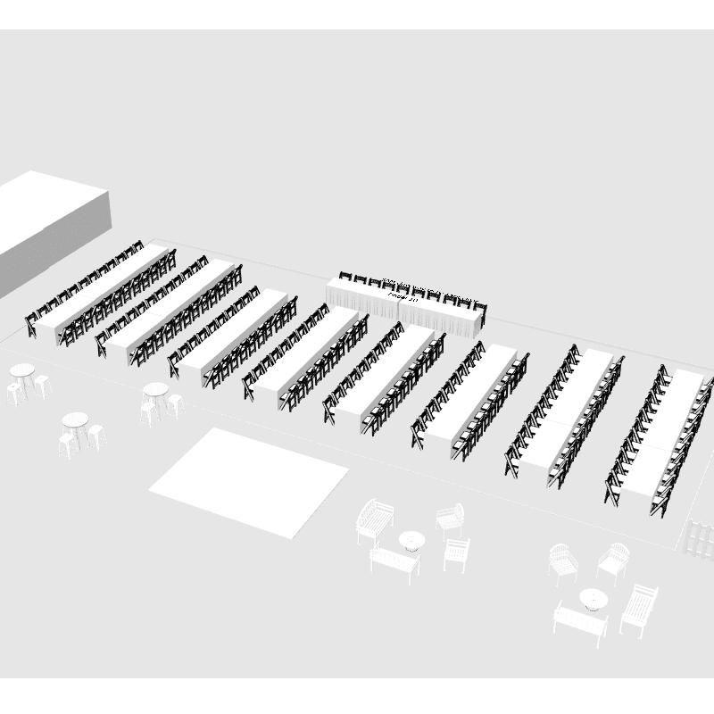 3D design of museum south australia armoury lawns wedding 200