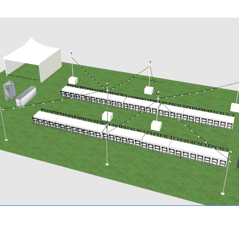 3D design of Corporate Christmas lunch museum SA