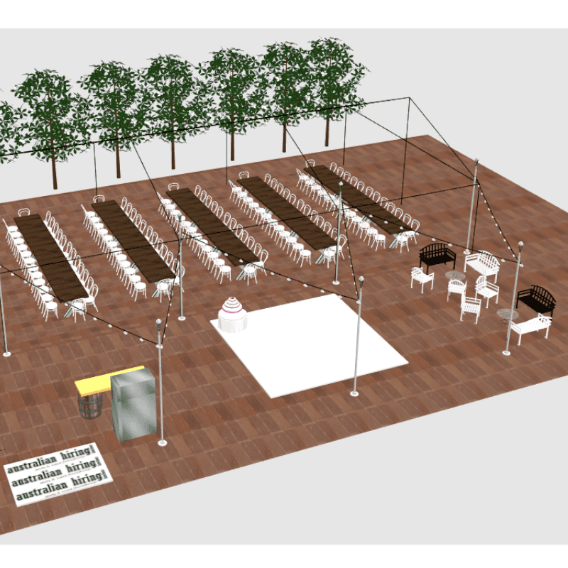 3D design of Beaumont House white dance floor