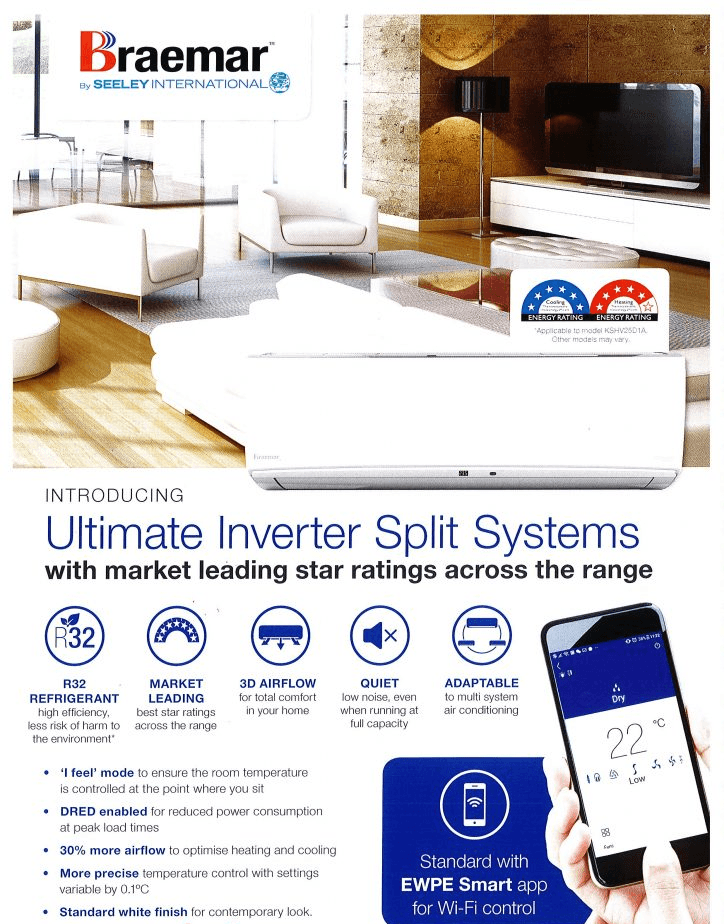 Air Conditioning Adelaide - Braemar Ultimate Inverter Split System
