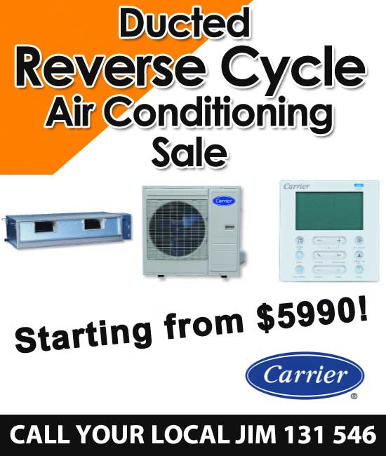 ducted reverse cycle air conditioning sale