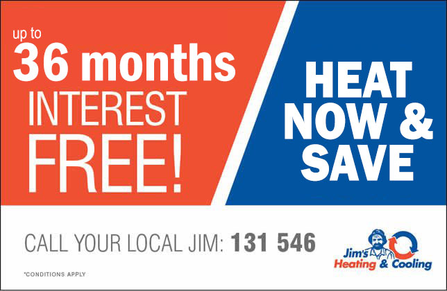 Up to 36 months Interest free on home heating or cooling