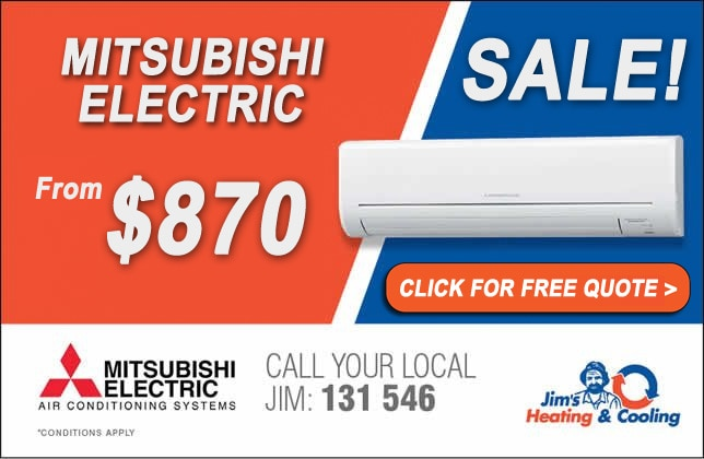 Mitsubishi wall split air conditioners on sale