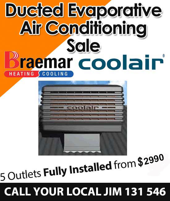 Ducted evaporative air conditioning on sale