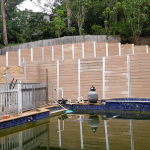 oakmont landscaping residential retaining walls pool