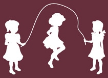 Three Girls Skipping