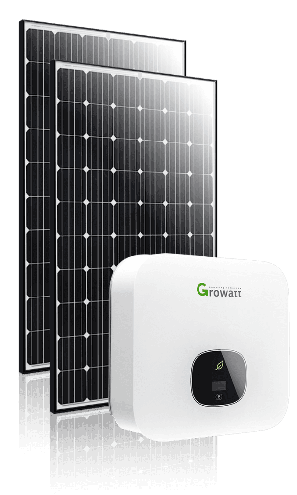 black solar panel inverter