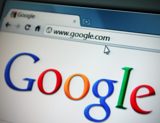 Detroit, Michigan, USA - April 20, 2011: Google.com viewed through Chrome web browser. Google Inc is an American multinational public corporation invested in Internet search, cloud computing, and advertising technologies.