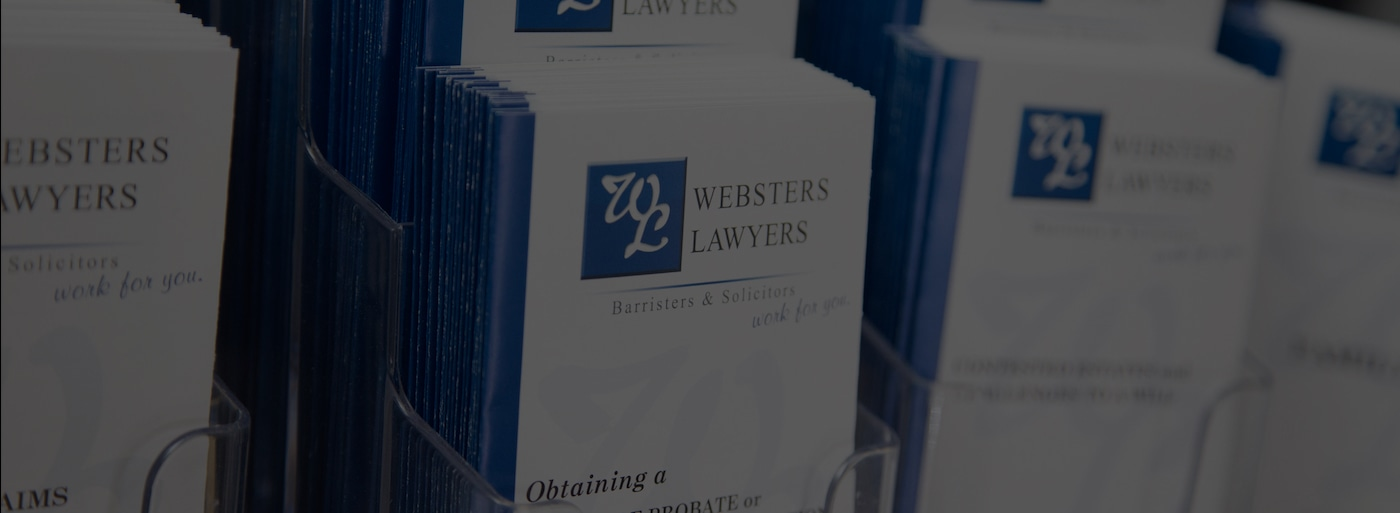 Websters Lawyers Adelaide - For The Right Legal Advice In
