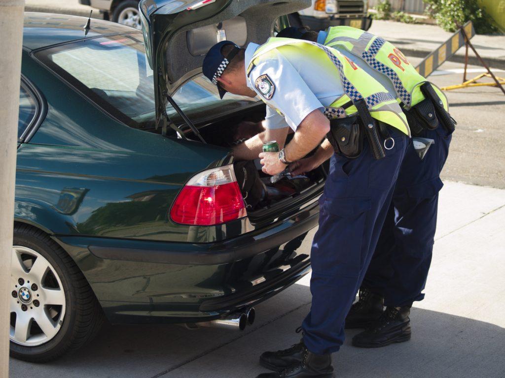 unlawfully searching a car