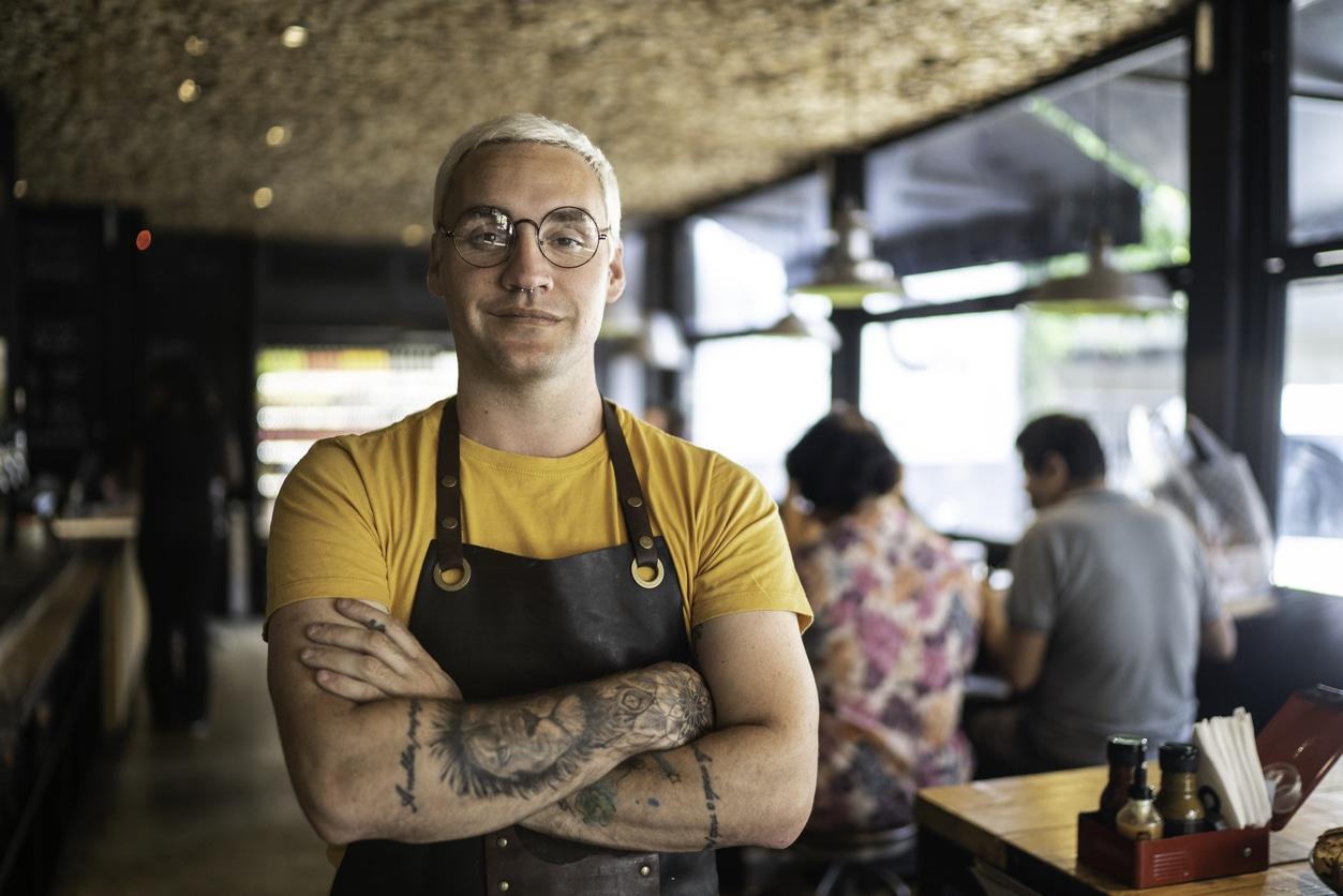 Portrait of owner / waiter at restaurant