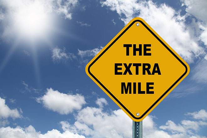 Photo of It's Not Just The Extra Mile; Every Inch Counts