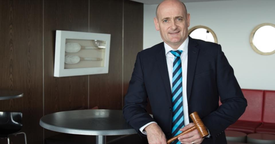 Photo of Andrew de Bomford of Harcourts Burnie wins Tassie auctioneering competition