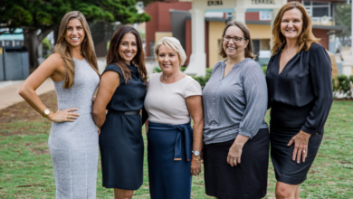 Photo of The Agency's new powerhouse female team on the Central Coast
