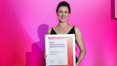 Photo of Hannah Gill named an ACT Telstra Business Woman of the Year