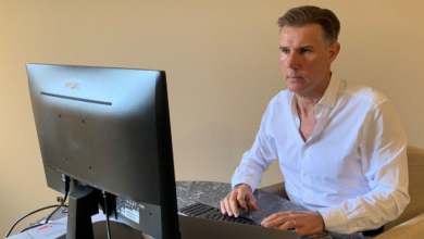 Photo of McGrath CEO Geoff Lucas gives some insights of working from home as he leads a team of 1,800