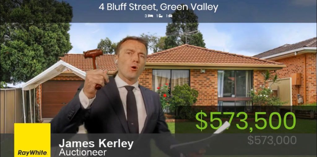 Auction volumes – Ray White Auctioneer James Kerley – 4 Bluff Street, Green Valley, NSW